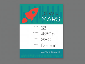 boarding pass to Mars