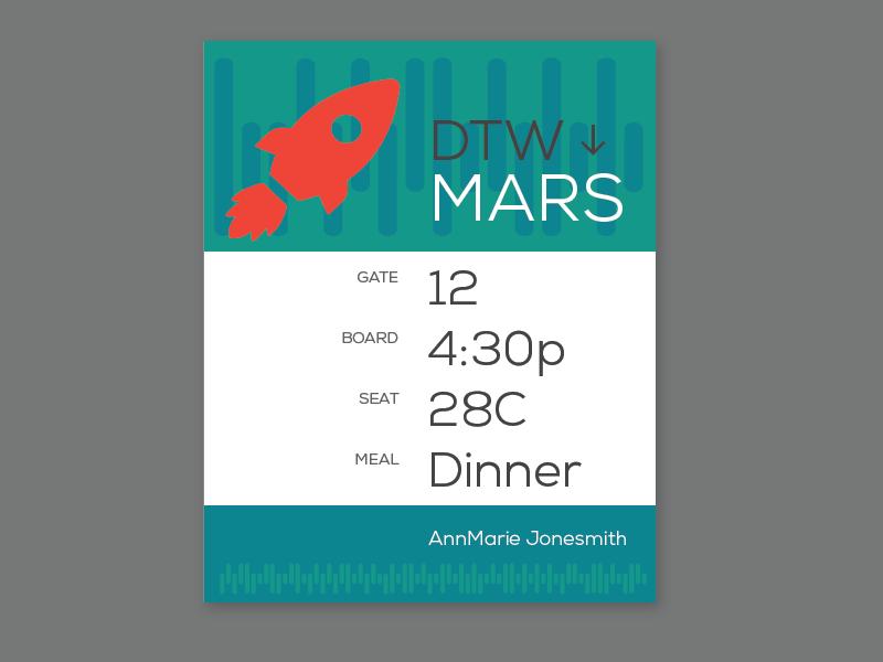 boarding pass to Mars
