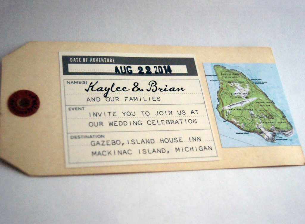 vintage tags with stickers