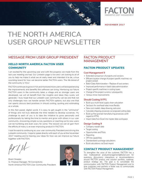 front side of a 2 column newsletter.