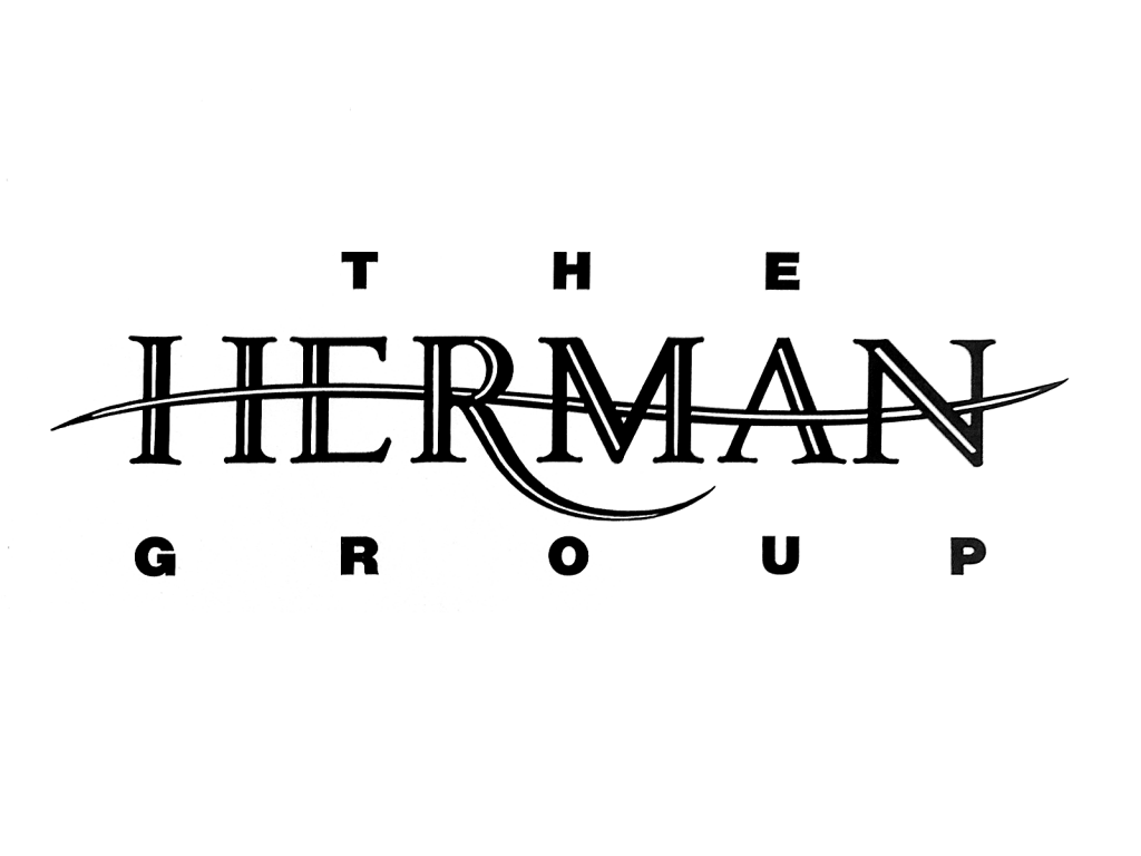 Herman has a line running through it that forms the cross arm of the H, middle of the E, and the cross of the A