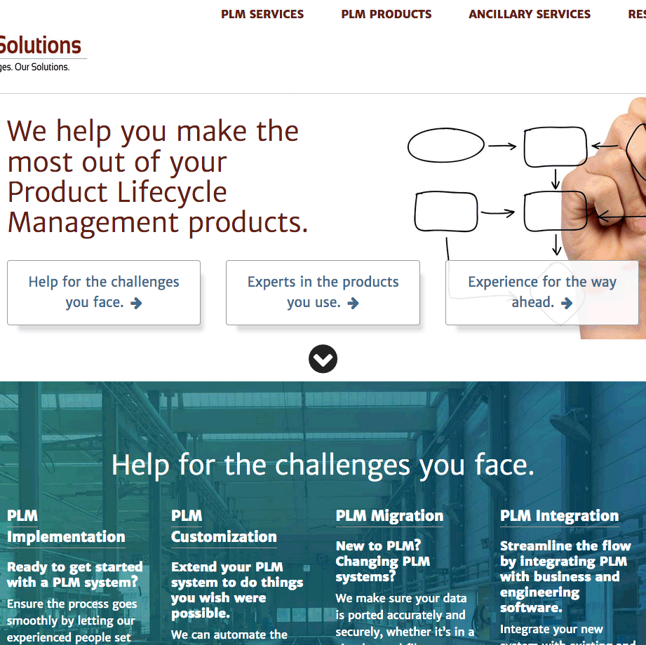 xlmsolutions home page peek