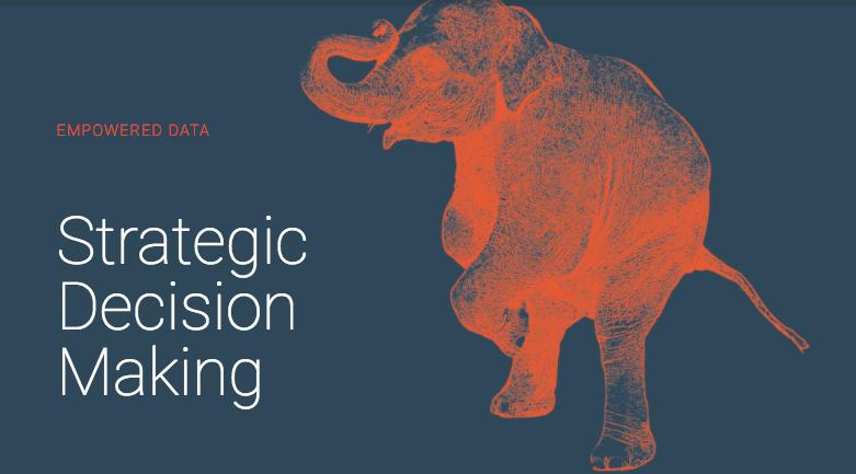 orange elephant on blue background with white headline