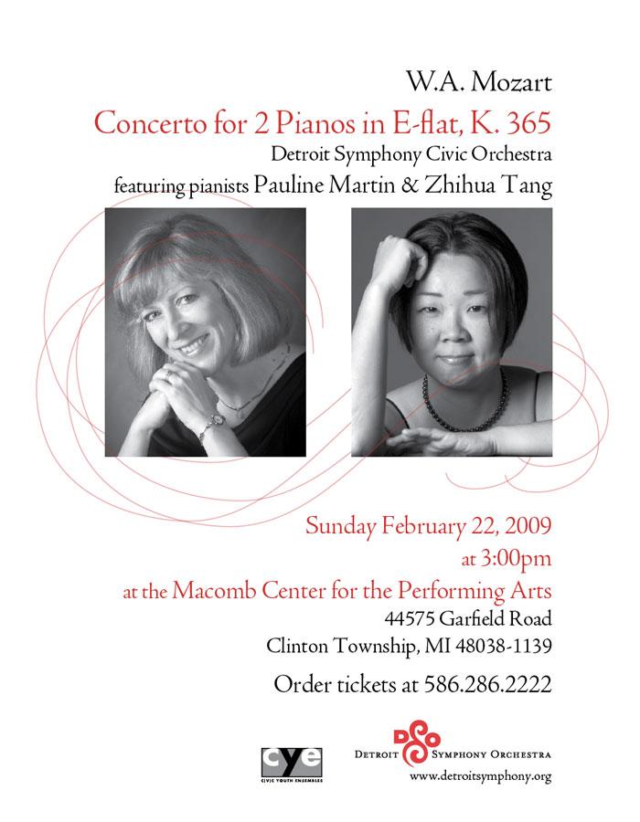 Detroit Symphony Orchestra promotional poster