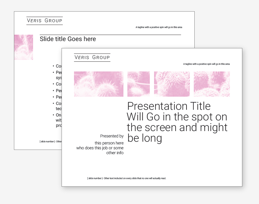 two sample powerpoint screens.